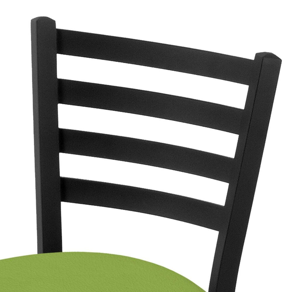 """Holland Bar Stool 400 25"""" Stationary Counter Stool with Black Wrinkle and Canter Kiwi Green Seat, , large"""
