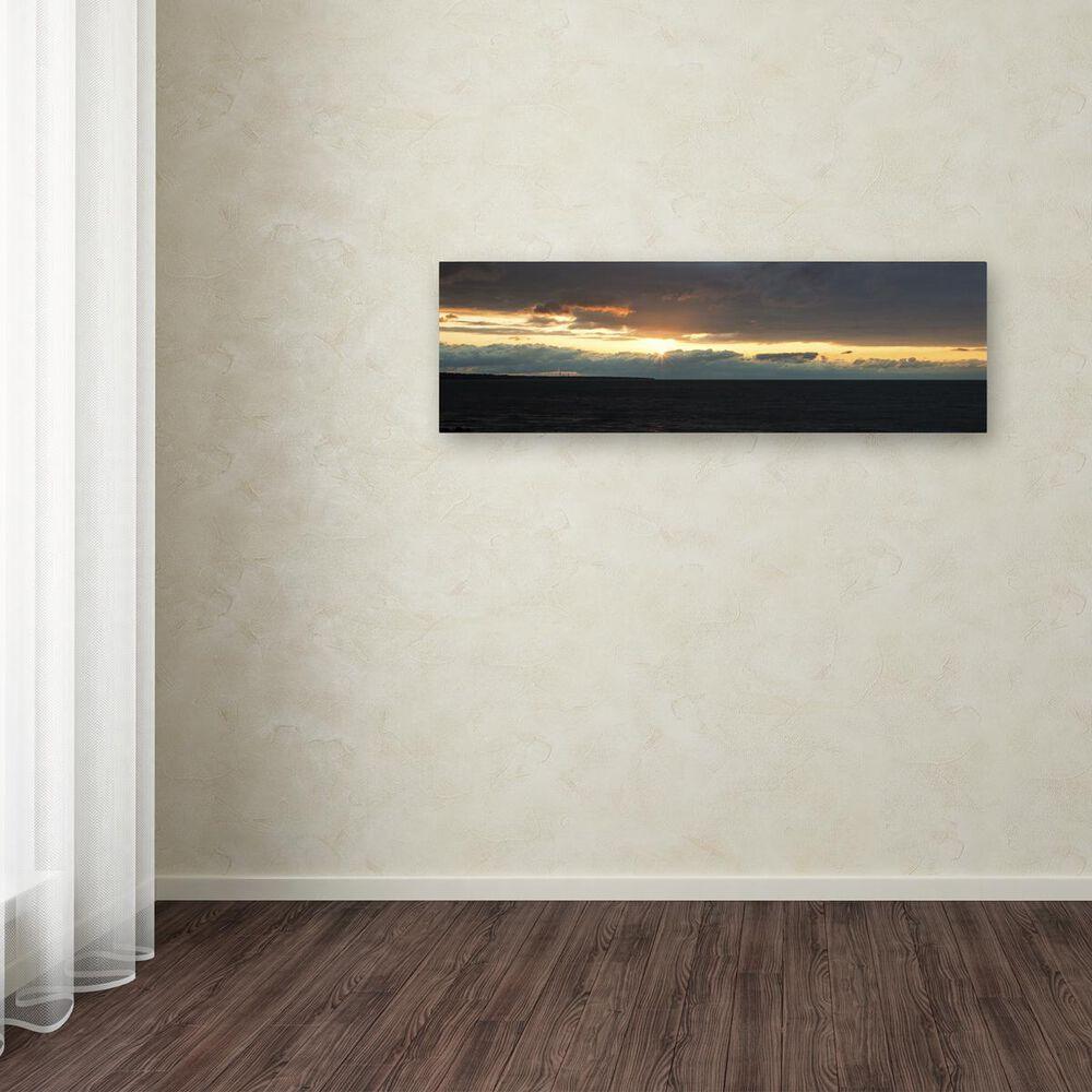 "Timberlake 6"" x 19"" April Setting Sun Over Lake Erie Canvas Art, , large"