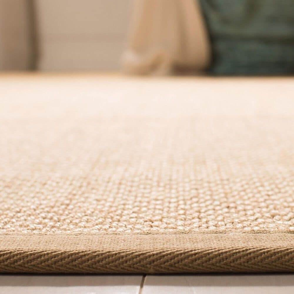 Safavieh Natural Fiber NF141B 8' Square Maize and Linen Area Rug, , large