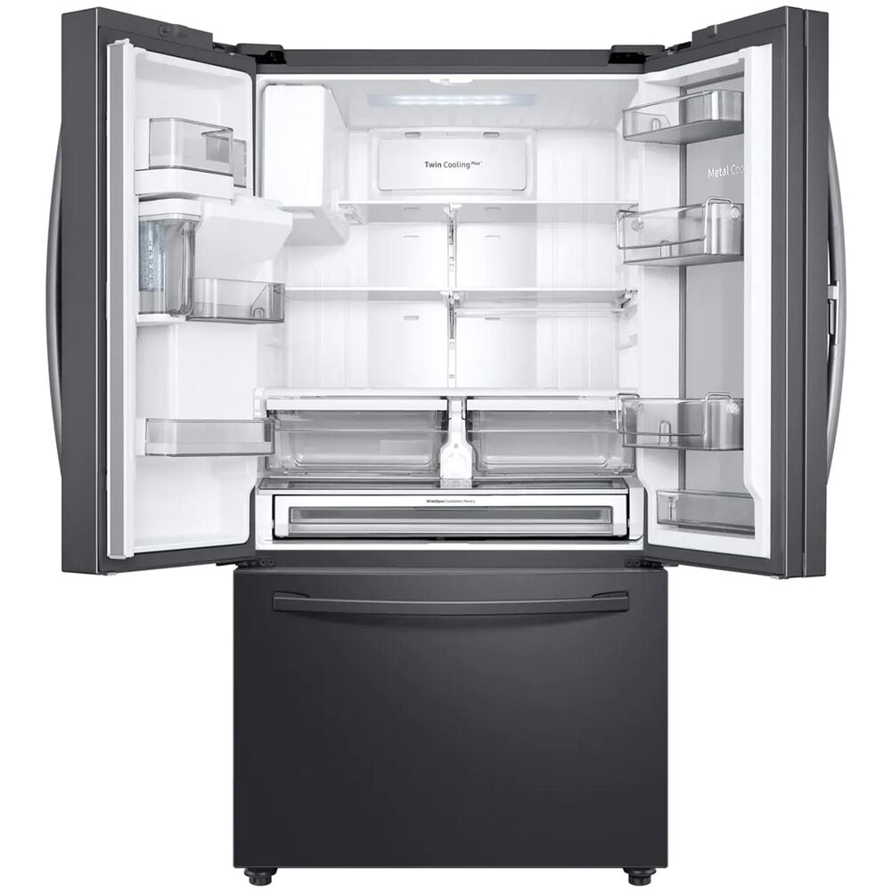 Samsung 28 Cu. Ft. 3-Door French Door Full Depth Refrigerator with Food Showcase in Black Stainless Steel , , large