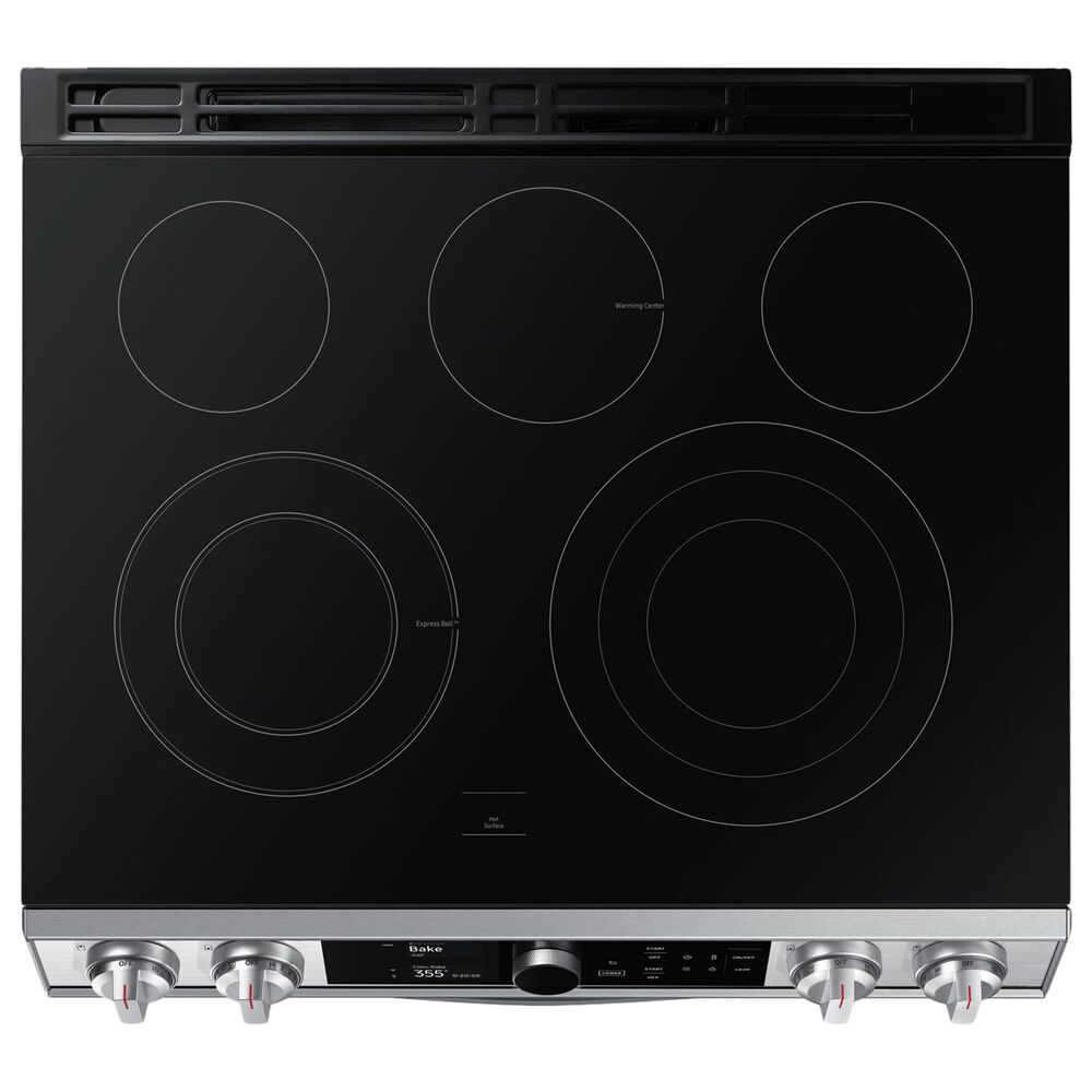 Samsung 6.3 Cu. Ft. Flex Duo Front Control Slide-in Electric Range with Smart Dial, Air Fry and Wi-Fi in Stainless Steel, , large