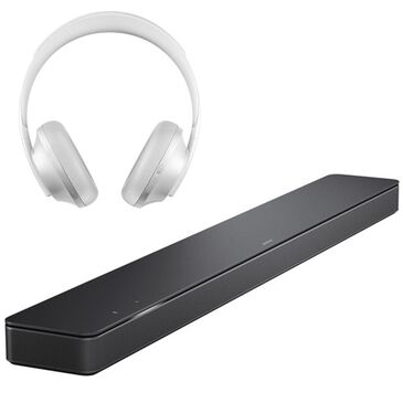 Bose Soundbar 500 in Black with Noise Cancelling Luxe Silver Headphones 700, , large