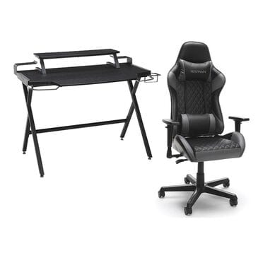 Respawn Products RESPAWN 1000 Gaming Computer Desk + RESPAWN 100 Racing Style Gaming Chair in Gray, , large