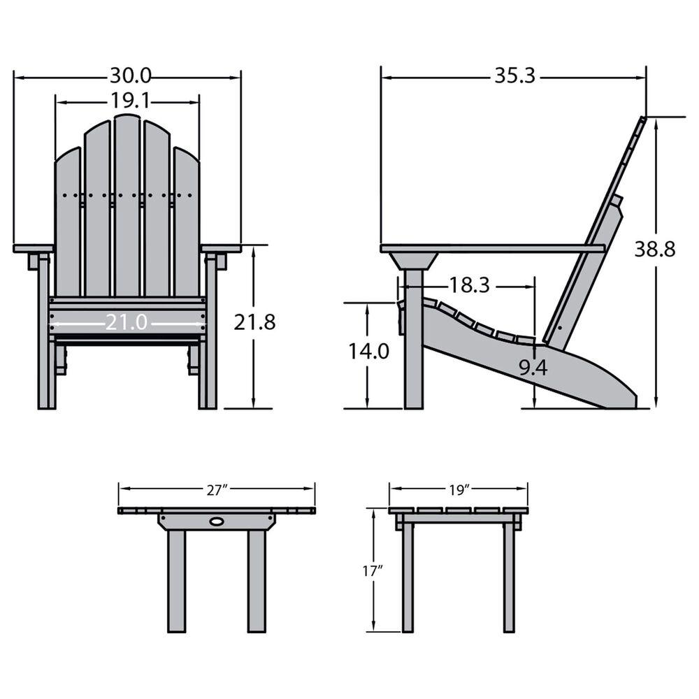 Highwood USA Classic Westport 6-Piece Adirondack Chair Set in Coastal Teak, , large