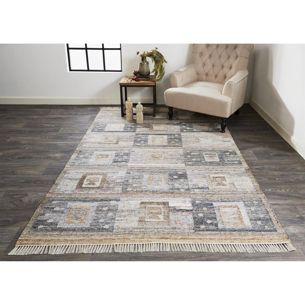 Feizy Rugs Beckett 0816F 5' x 8' Charcoal Area Rug, , large
