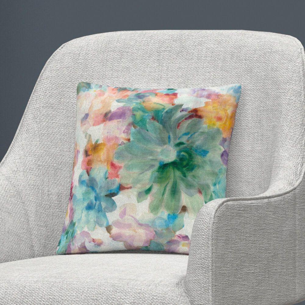 Timberlake Danhui Nai 'Succulent Florals Crop' 16 x 16 Decorative Throw Pillow, , large