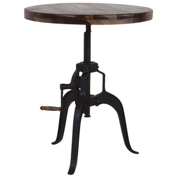 Crystal City Sparrow Round Crank Pub Table in Cocoa and Black, , large