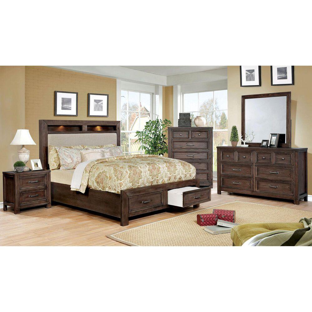 Furniture of America Hart 2 Drawer Nightstand in Dark Oak, , large