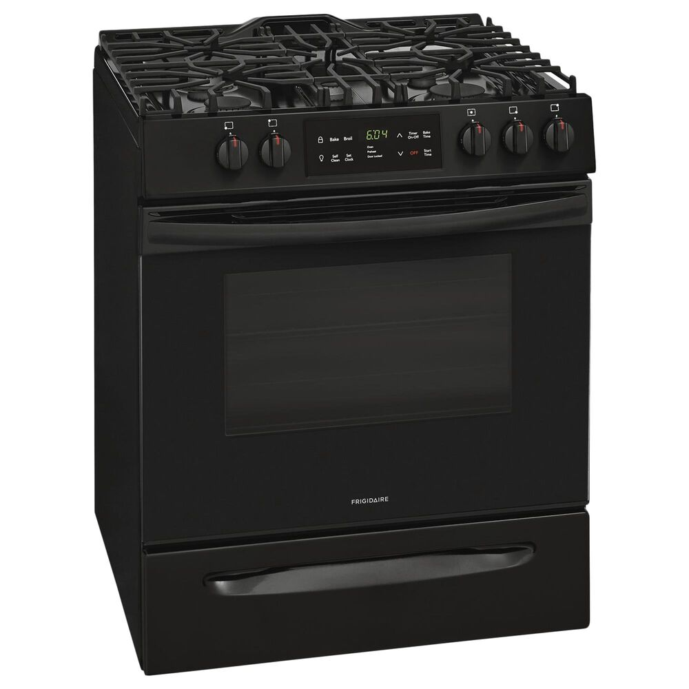 Frigidaire 30'' Front Control Freestanding Gas Range in Black, , large