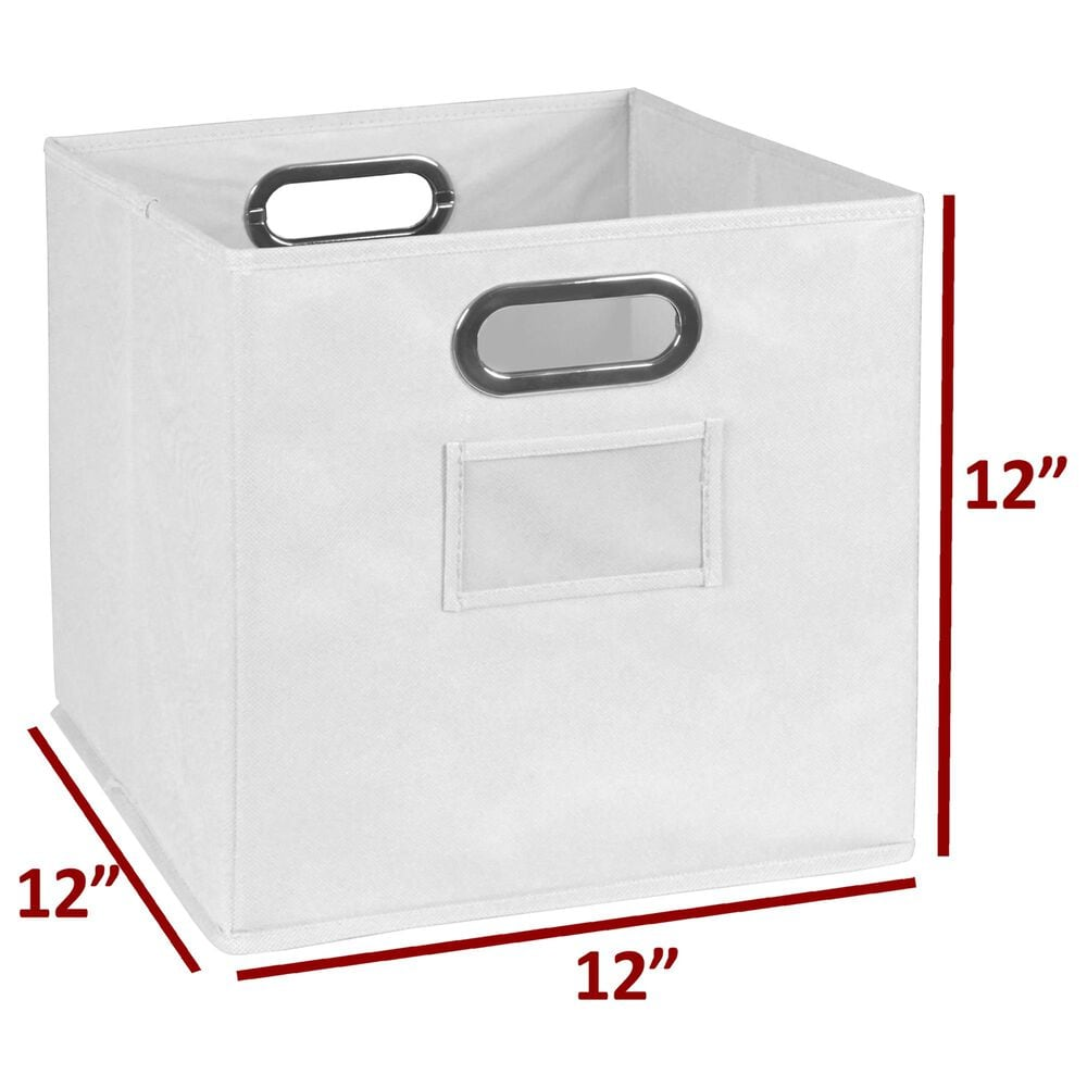 Regency Global Sourcing Niche Cubo 4-Piece Storage Set in White Wood Grain/White, , large