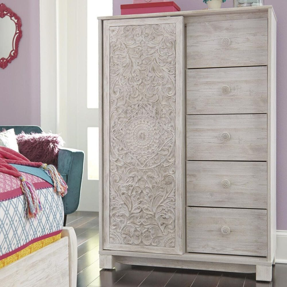 Signature Design by Ashley Paxberry 5 Piece Twin Bedroom Set in White Wash, , large