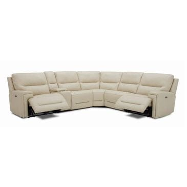 Interlochen 6-Piece Power Reclining Curved Sectional in Tan, , large