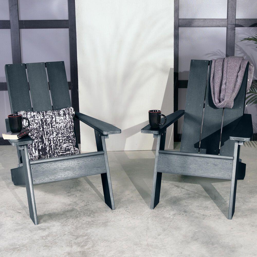 Highwood USA 2 Italica Modern Adirondack Chairs  in Federal Blue, , large