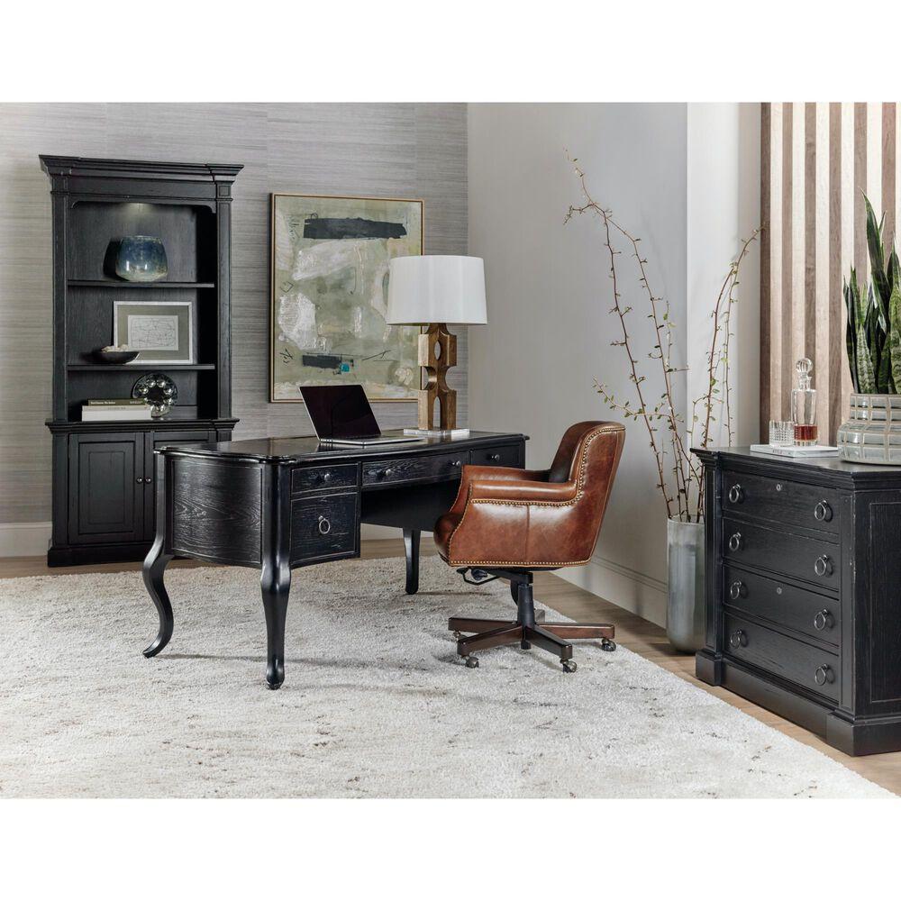 Hooker Furniture Bristowe Writing Desk in Black and Warm Brown, , large