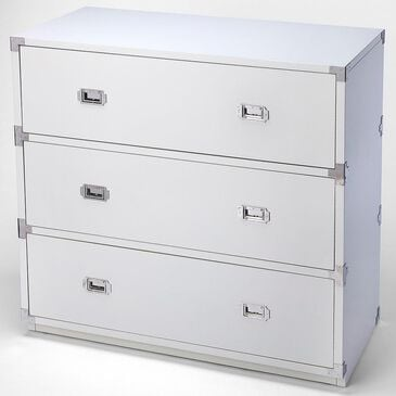 Butler Anew 3-Drawer Campaign Chest in White, , large