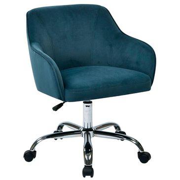 OSP Home Bristol Task Chair with Atlantic Velvet Fabric, , large