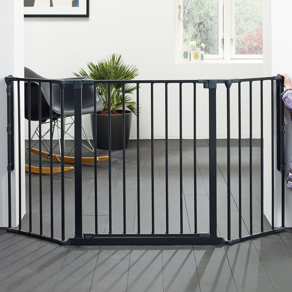 """LA Baby BabyDan FLEX 35.4"""" - 57.5"""" Medium Gate in Black, , large"""