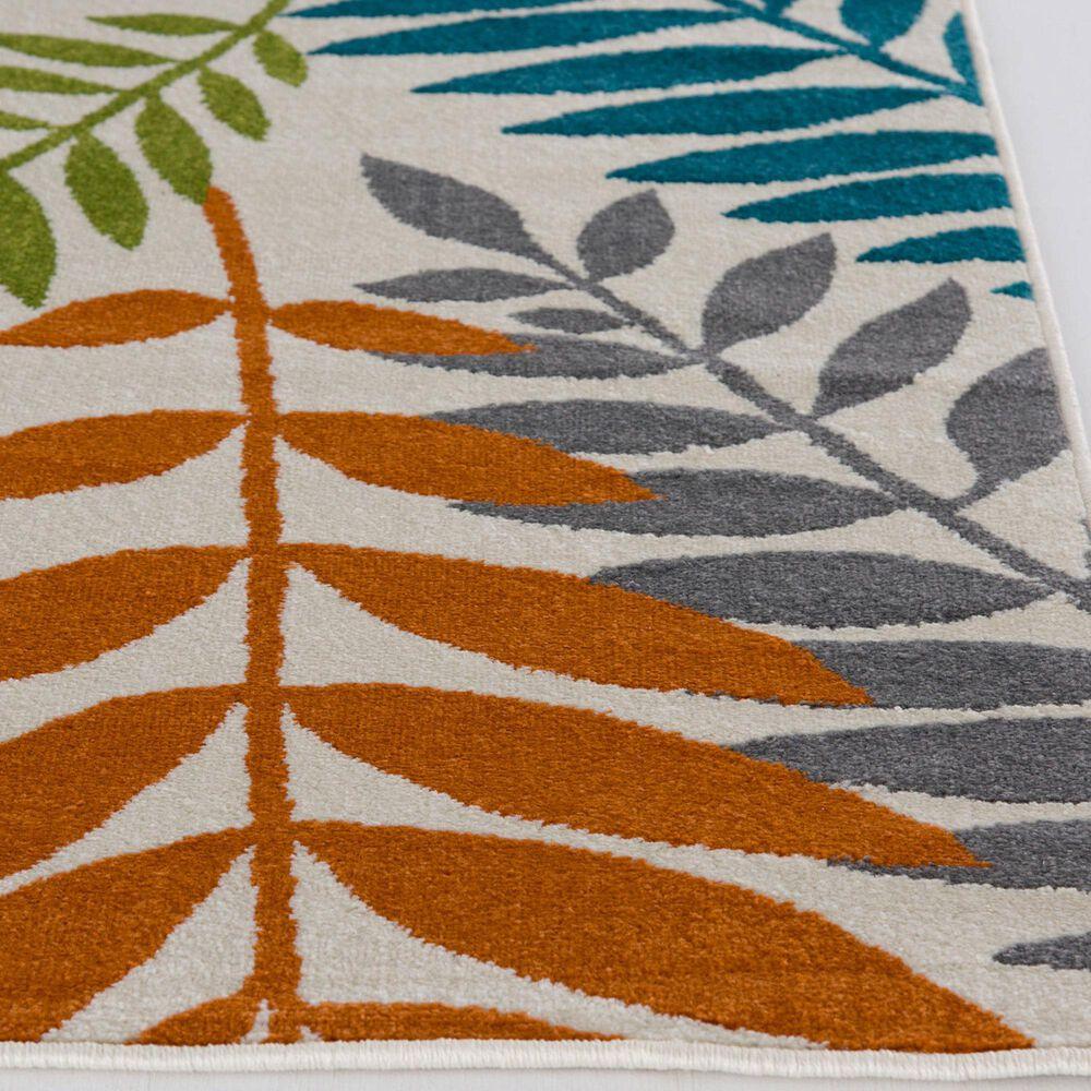 "Central Oriental Terrace Tropic Blythewood 2304NIEC.084 7'10"" x 9'10"" Multicolor Area Rug, , large"