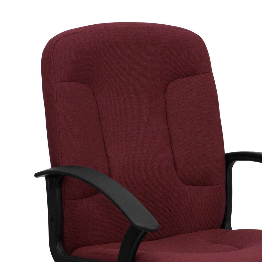 Flash Furniture Executive Swivel Chair in Burgundy and Black , , large