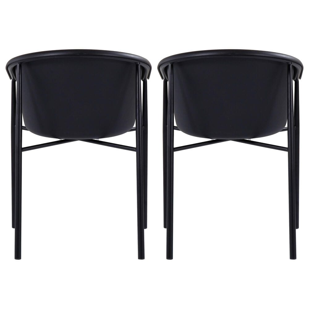 Moe's Home Collection Shindig Patio Dining Chair in Black (Set of 2), , large