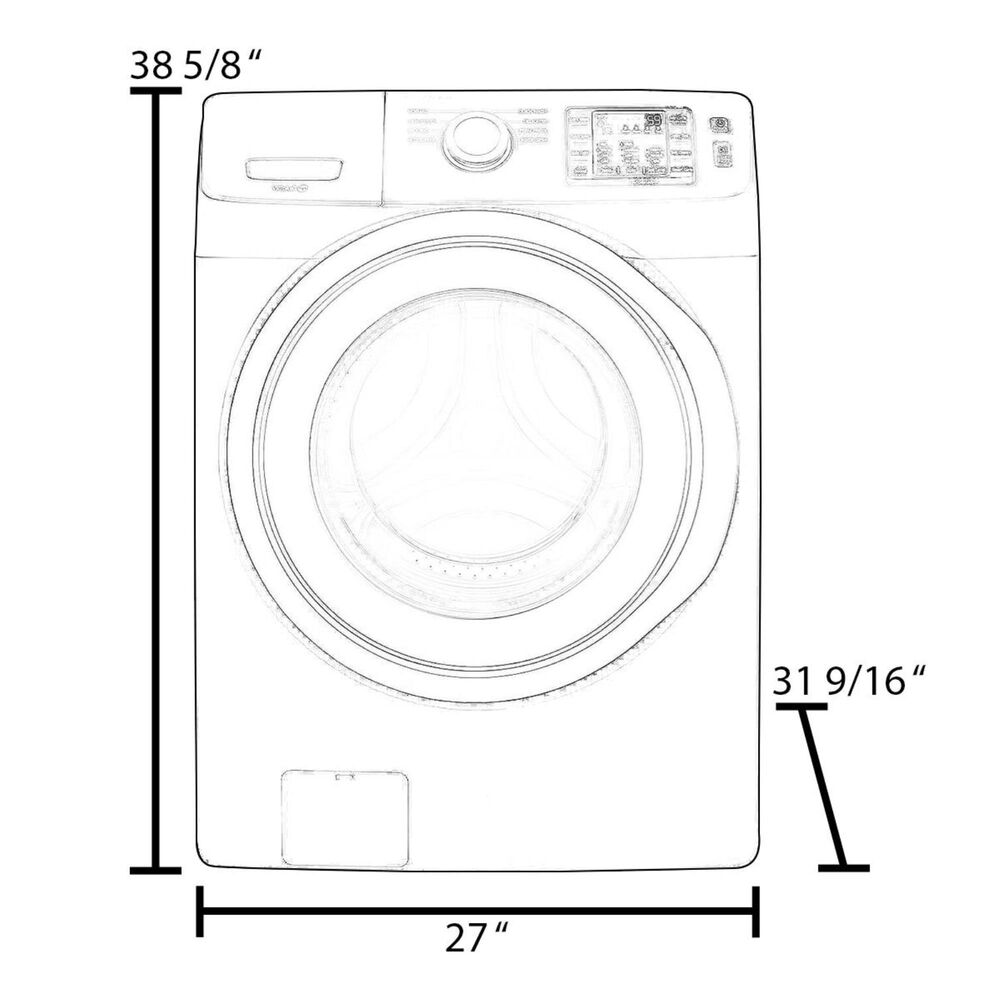 Whirlpool 4.5 Cu. Ft. Closet Depth Front Load Washer with Steam in White, , large