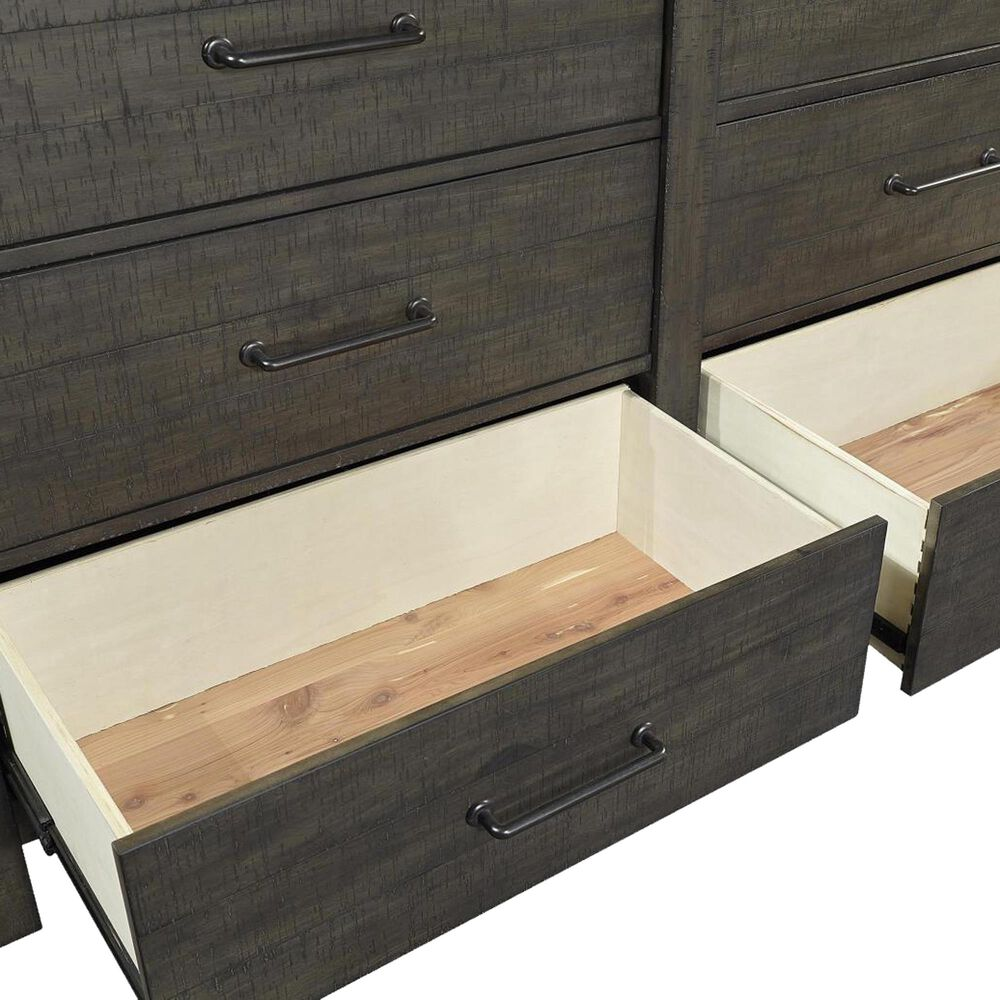 Riva Ridge Mill Creek 4 Piece King Low Profile Bed Set with 2-Drawer Nightstand in Carob, , large
