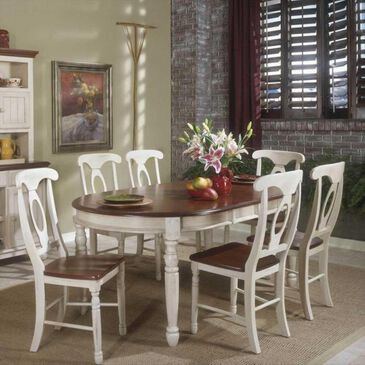 A-America British Isles Table in Buttermilk and Merlot, , large