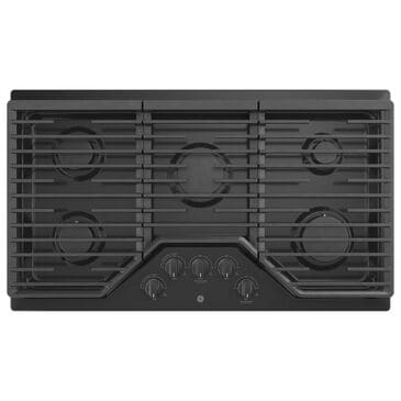 "GE Appliances 36"" Built-In Gas Cooktop with 5 Burner in Black, , large"