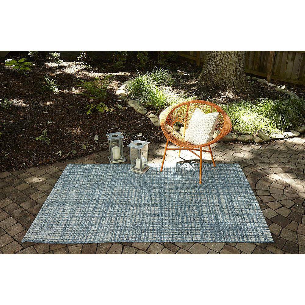 "Momeni Como 5' x 7'6"" Blue Indoor/Outdoor Area Rug, , large"