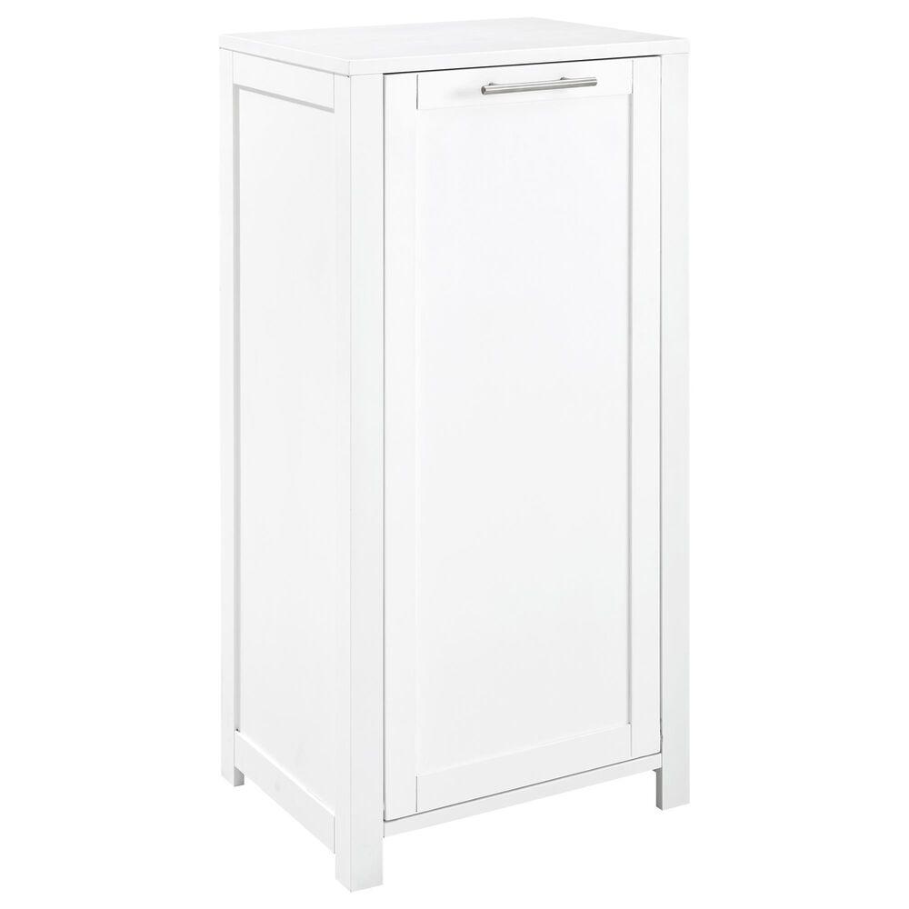 Crosley Furniture Savannah Linen Hamper in White, , large