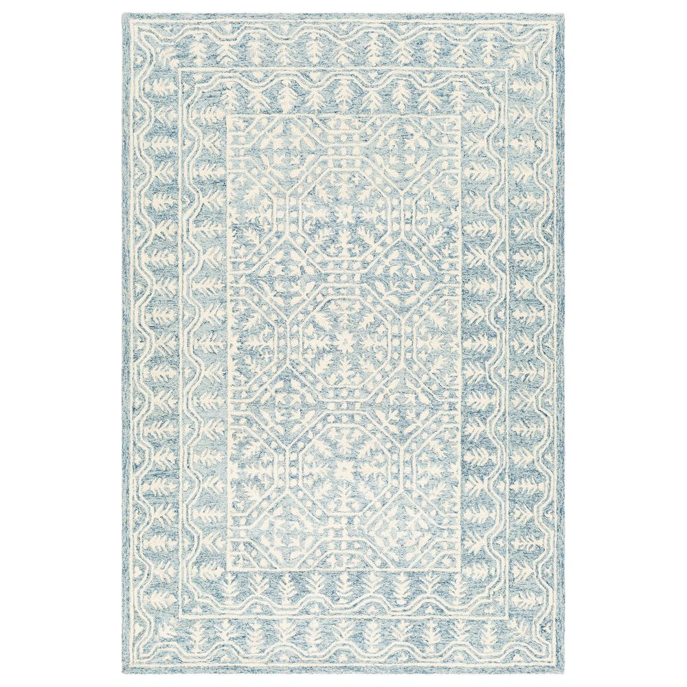 """Surya Granada GND-2316 5' x 7'6"""" Pale Blue, Beige and Sky Blue Area Rug, , large"""