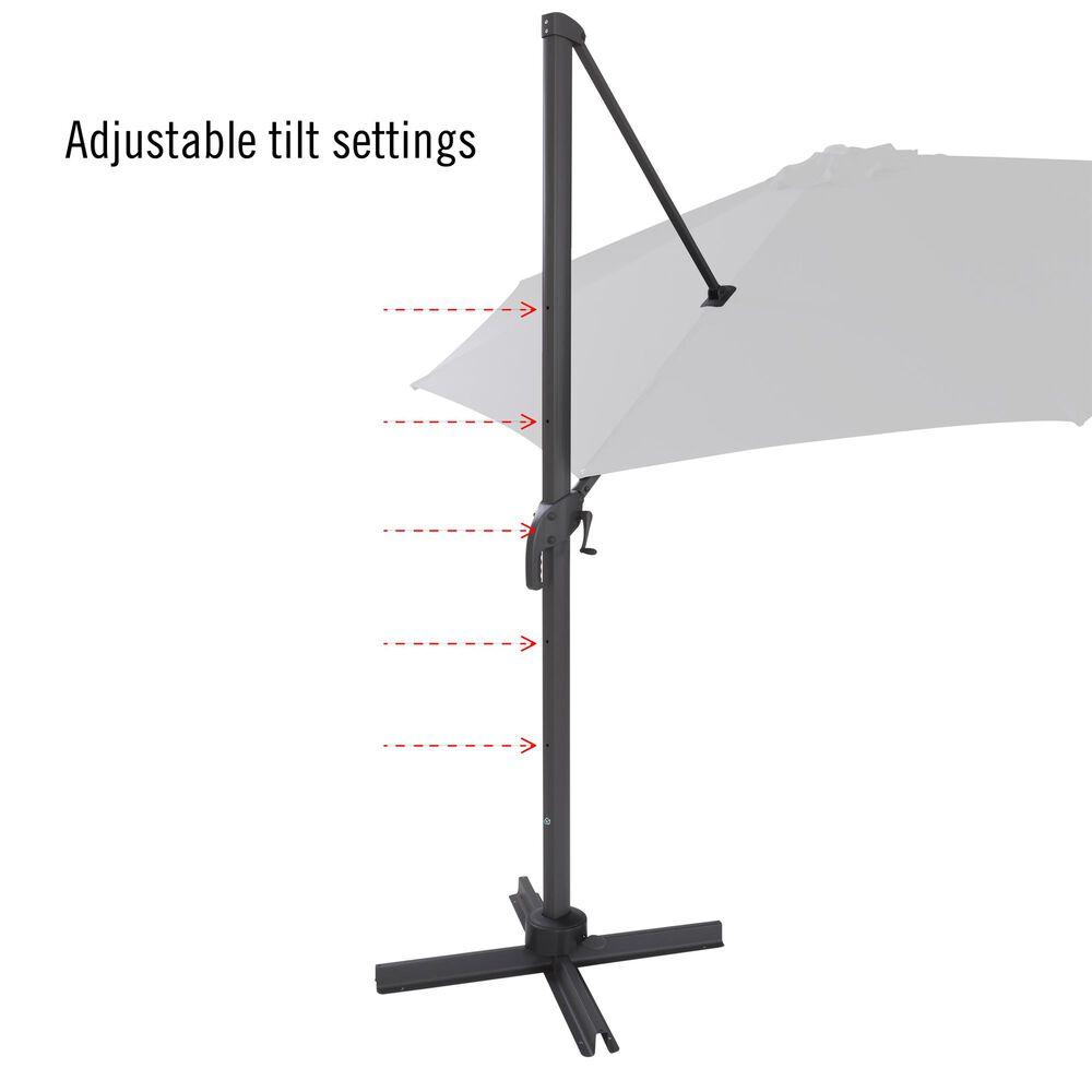CorLiving 11.5' UV Resistant Deluxe Patio Umbrella in Orange, , large