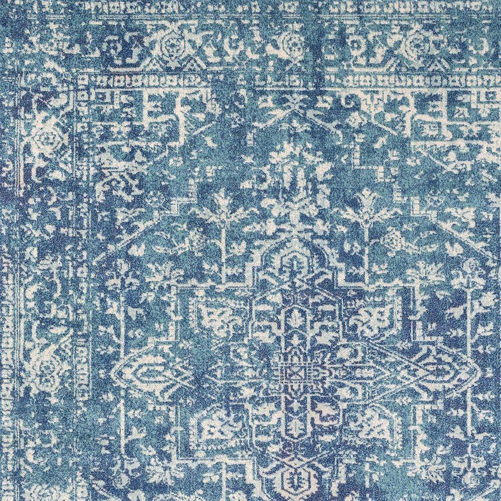 Surya Harput HAP-1023 2' x 3' Teal, Dark Blue and Beige Scatter Rug, , large