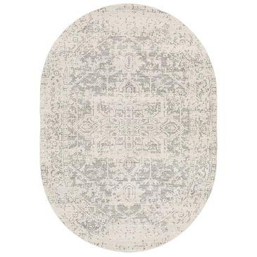 "Surya Harput HAP-1024 6'7"" x 9' Oval Charcoal, Light Gray and Beige Area Rug, , large"