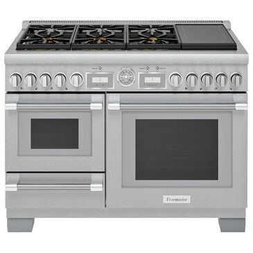 """Thermador 48"""" Pro Grand Commercial Depth Dual Fuel Steam Range in Stainless Steel, , large"""