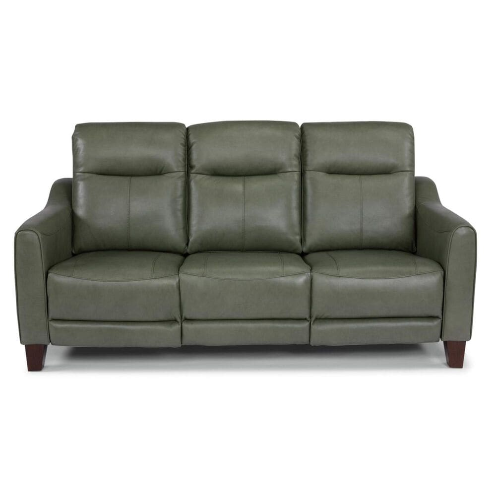 Flexsteel Forte Leather Power Reclining Sofa in Teal, , large
