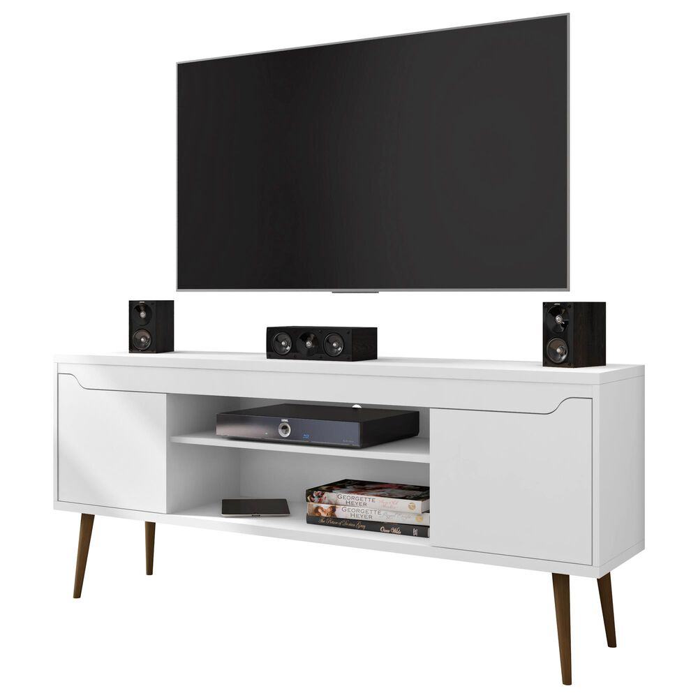 "Dayton Bradley 62.99"" TV Stand in White, , large"