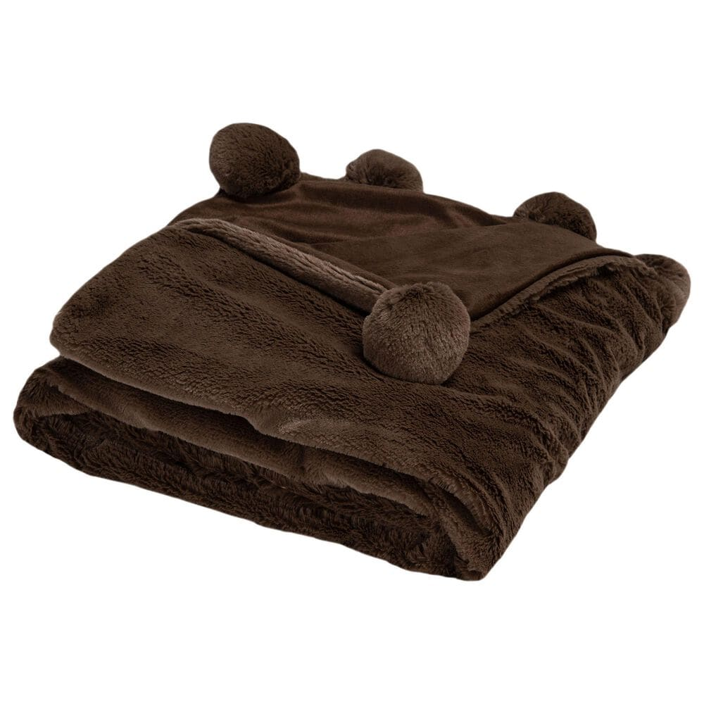 """Safavieh Dalson 50"""" x 60"""" Throw in Chocolate, , large"""