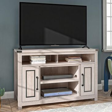 "DHP Dorset 48"" TV Stand in Rustic White/Old Wood White, , large"