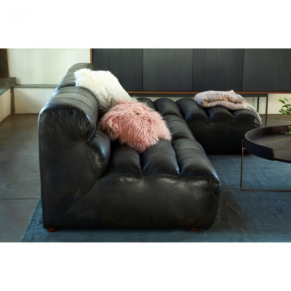Moe's Home Collection Ramsay Chaise in Antique Black, , large
