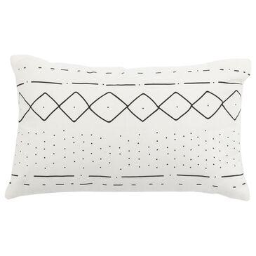 "Safavieh Tari 12"" x 20"" Pillow in Black and White, , large"