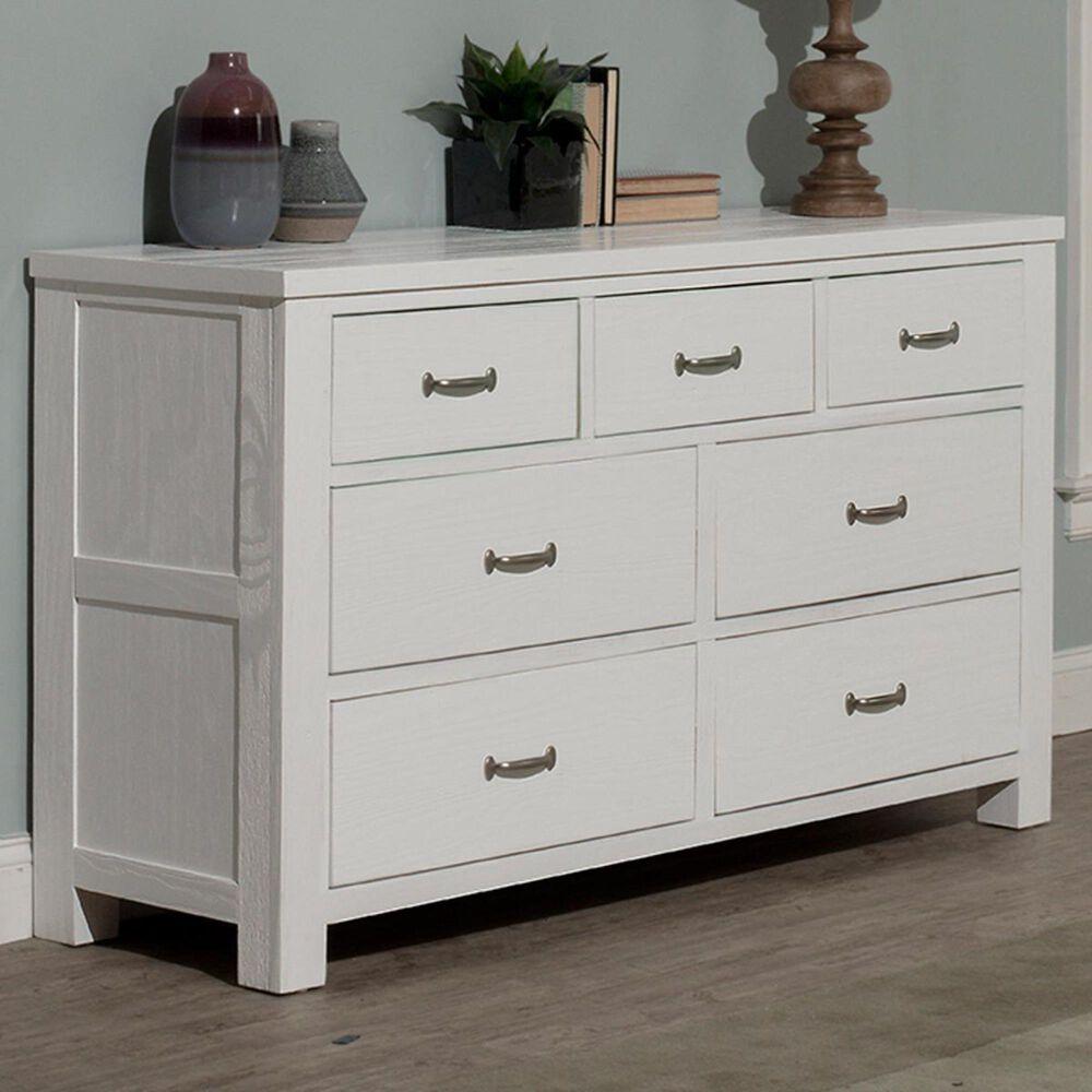 Richlands Furniture Highlands 7 Drawer Dresser in White, , large
