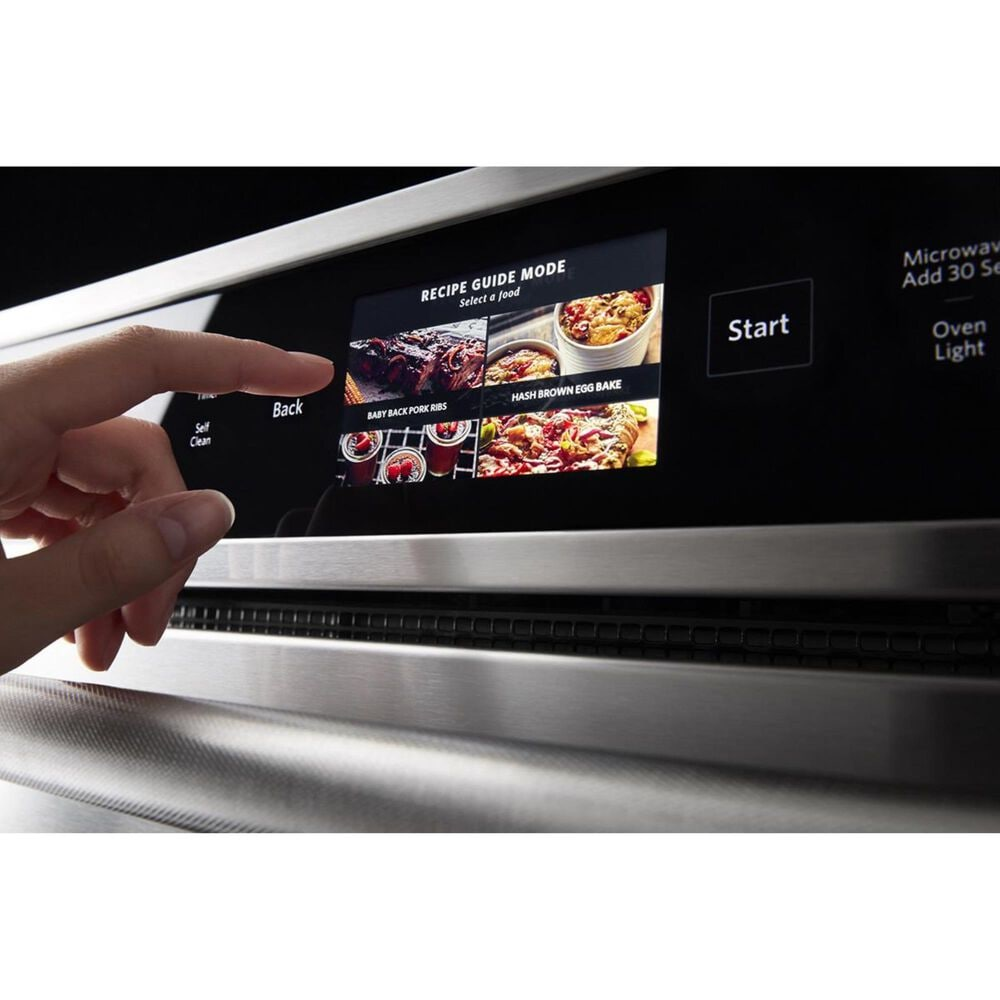 """KitchenAid 30"""" Wall Oven with Microwave Combo Smart in Stainless Steel, , large"""
