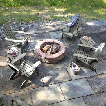 Highwood USA Westport 6-Piece Adirondack Chair Set in Coastal Teak, , large
