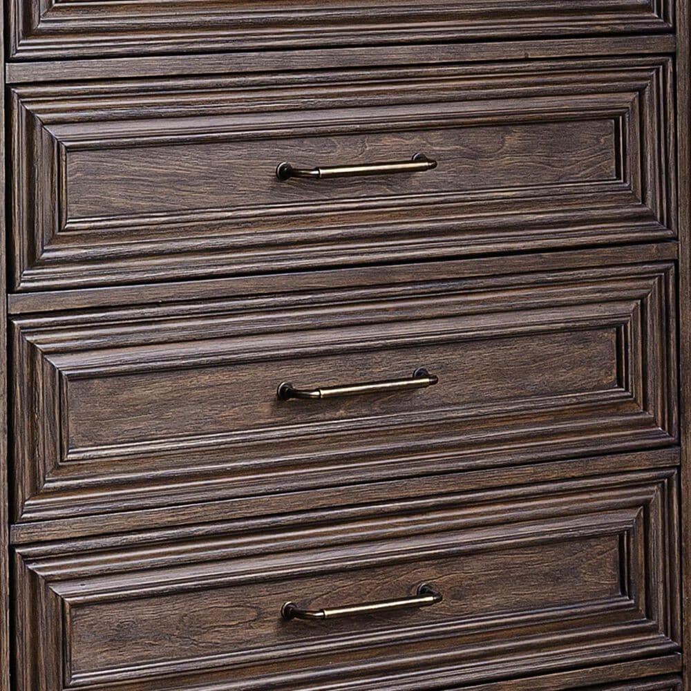 Chapel Hill Bedford Heights 6 Drawer Standard Chest in Estate Brown, , large