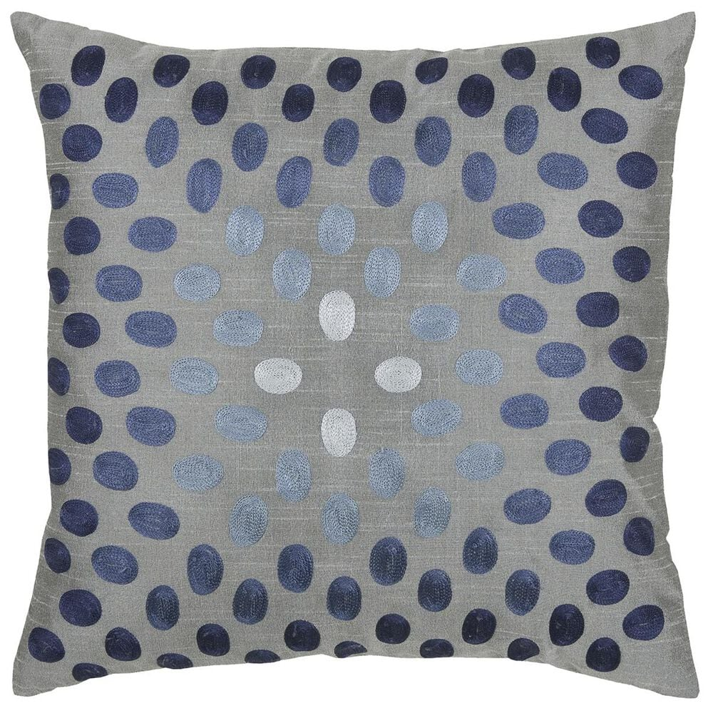 """Rizzy Home 18"""" x 18"""" Pillow Cover in Blue and Gray, , large"""