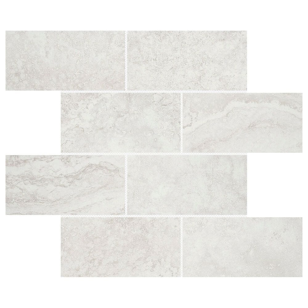 "Emser Daroca Atar 3"" x 6"" on 12"" x 12"" Porcelain Mosaic Sheet, , large"