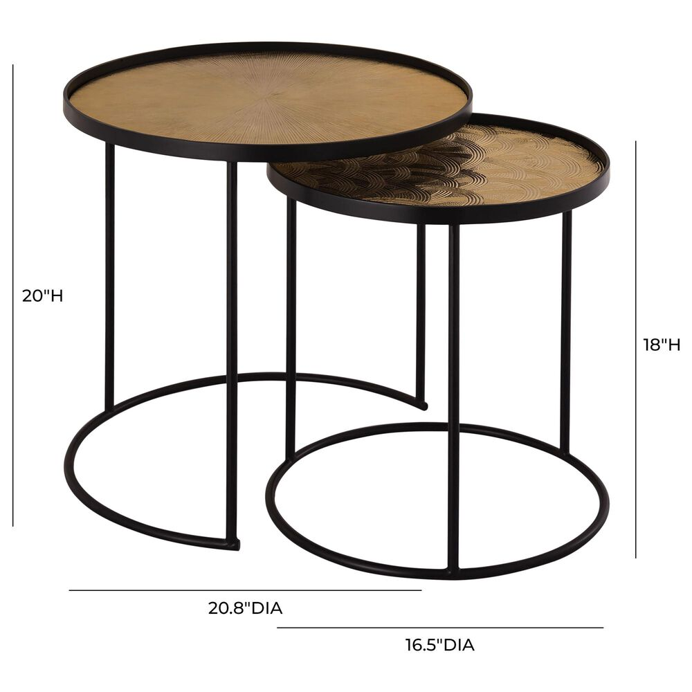 Tov Furniture Eve Side Table in Gold and Black, , large