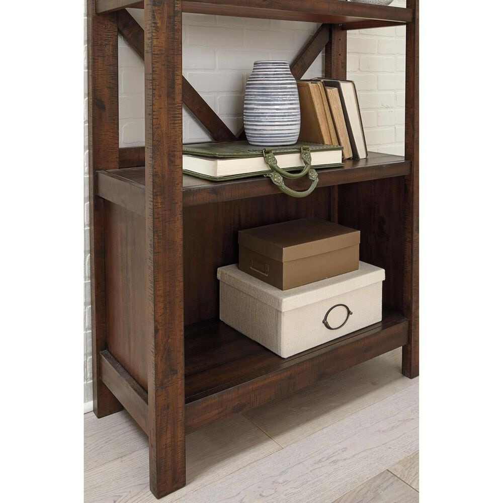 Signature Design by Ashley Baldridge Large Bookcase in Rustic Brown, , large