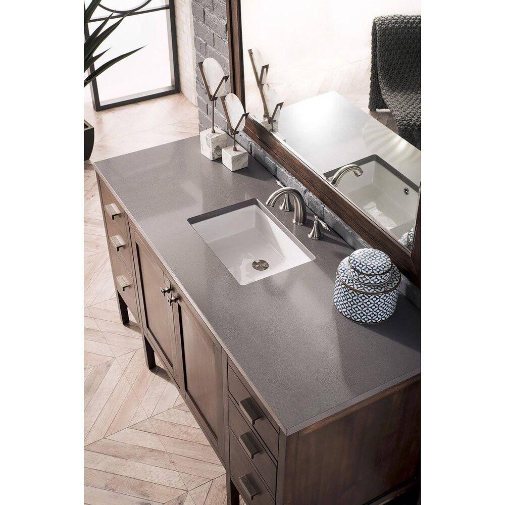 James Martin Addison 60 Single Bathroom Vanity In Mid Century Acacia With 3 Cm Grey Expo Quartz Top Nebraska Furniture Mart
